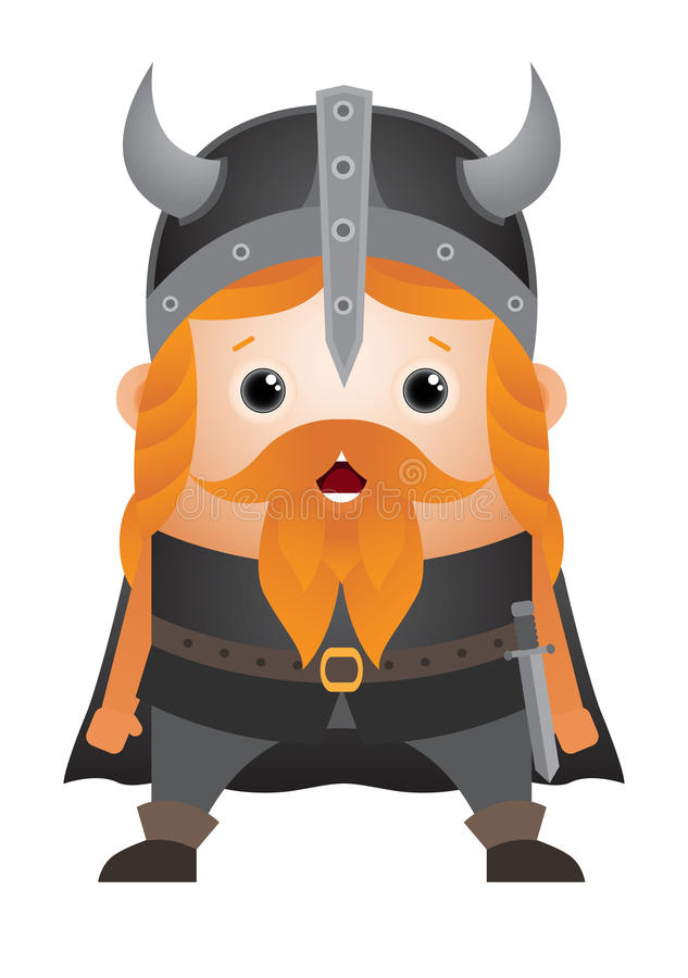 tecknad filmtecken viking vektor illustrationer