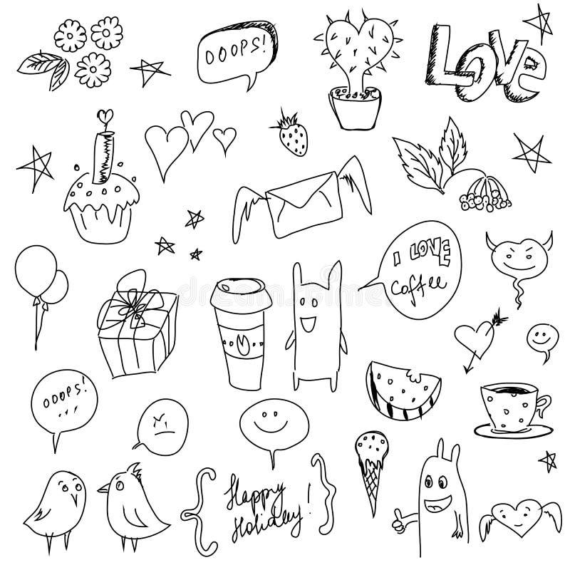 tecknad hand royaltyfri illustrationer