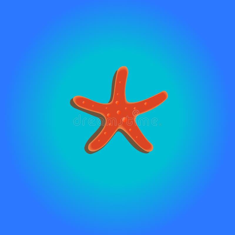 tecknad tappning för stil för stjärna för hav för handillustration originell royaltyfri foto