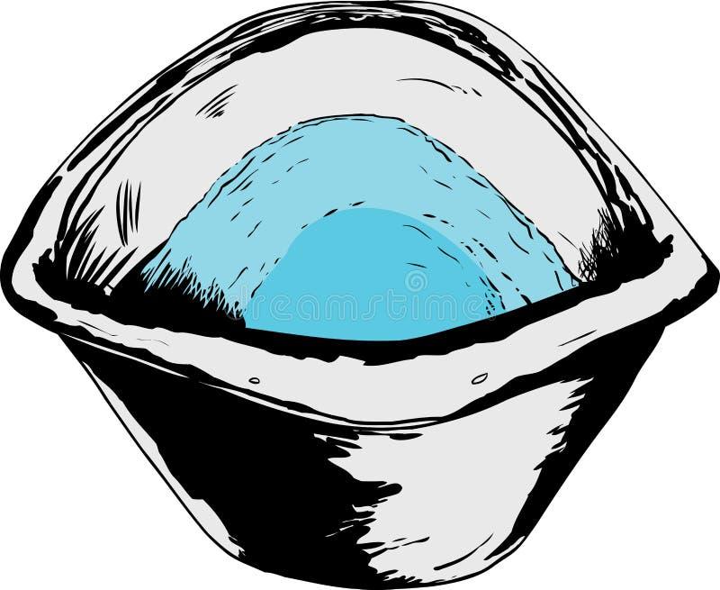 Tecknade filmen av vatten badar in stock illustrationer