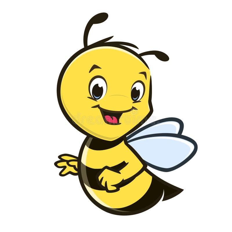 Tecknade filmen behandla som ett barn biet royaltyfri illustrationer
