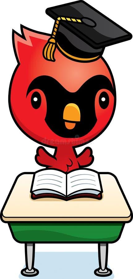 Tecknade filmen behandla som ett barn kardinalen Student vektor illustrationer