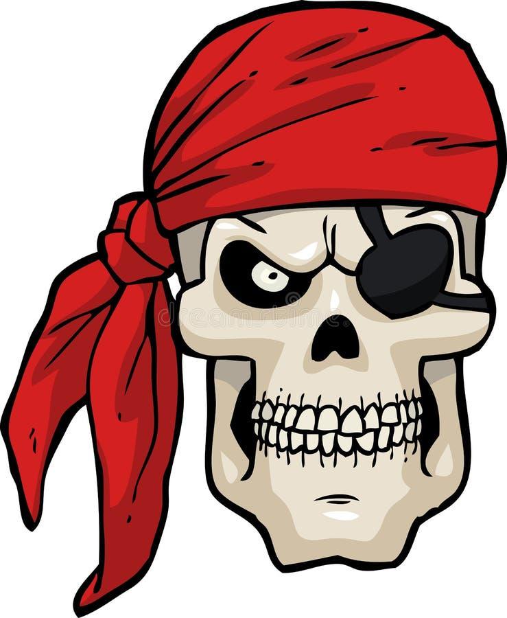 Tecknade filmen piratkopierar skallen royaltyfri illustrationer
