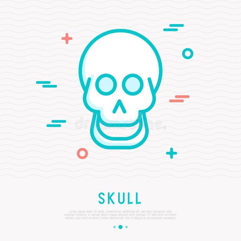 Tecknade filmen som ler skallen fodrar thin, symbolen stock illustrationer