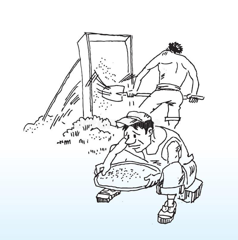 tecknade handarbetare vektor illustrationer