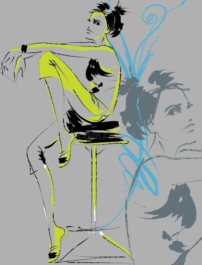 tecknat skissa vektor illustrationer