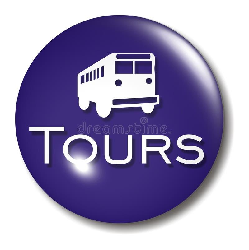 tecknet för bussknapporben turnerar stock illustrationer