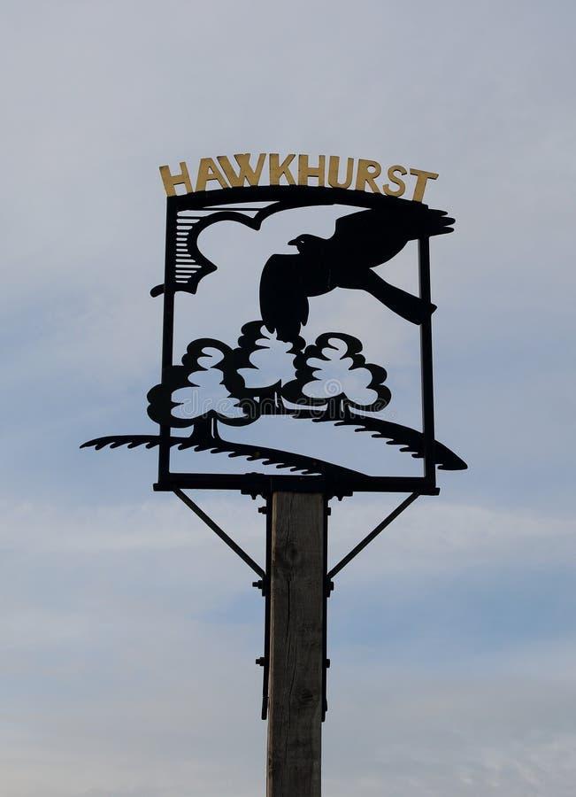 Tecknet för bygräsplan på Hawkhurst Kent royaltyfri foto
