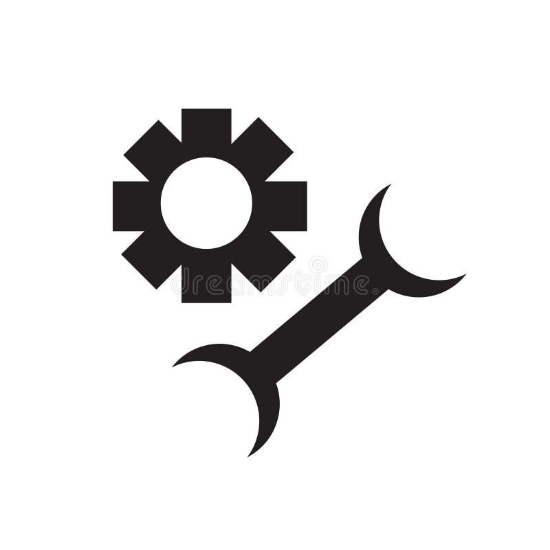 Tecknet och symbolet för hjälpmedelsymbolsvektor som isoleras på vit bakgrund, bearbetar logobegrepp vektor illustrationer