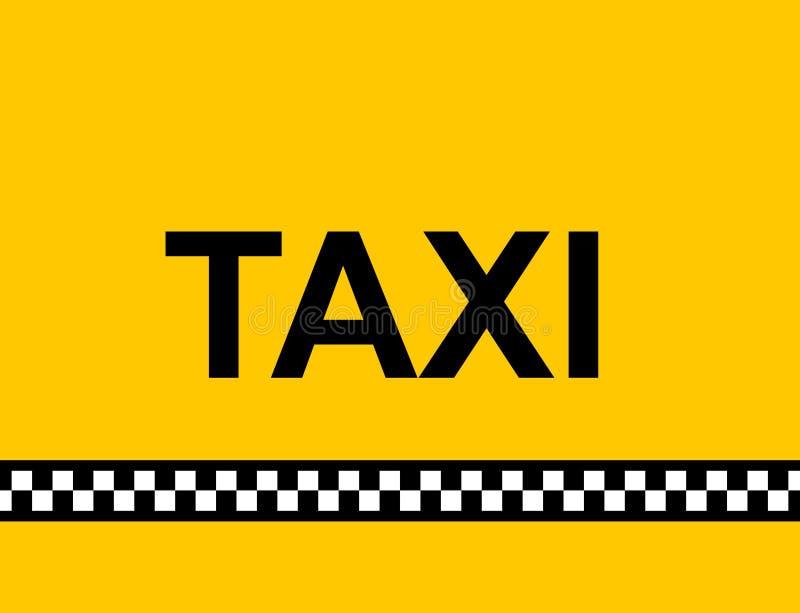 tecknet taxar stock illustrationer