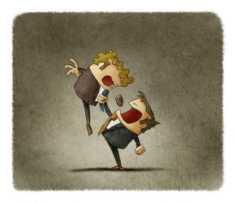 Teckning av två affärsmän royaltyfri illustrationer