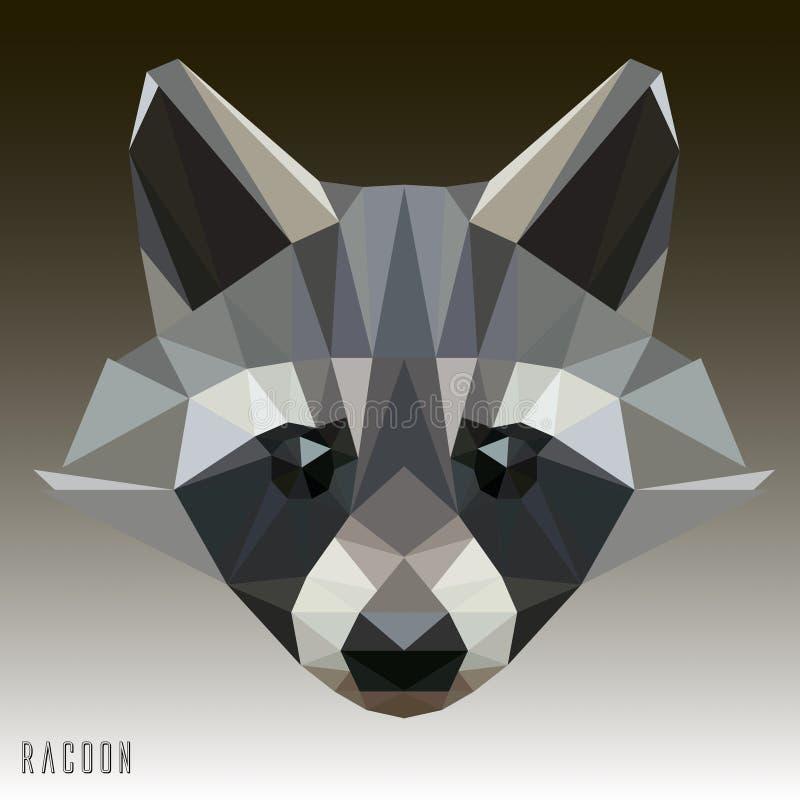 Teckning för illustration för tvättbjörnvektor geometrisk royaltyfri bild