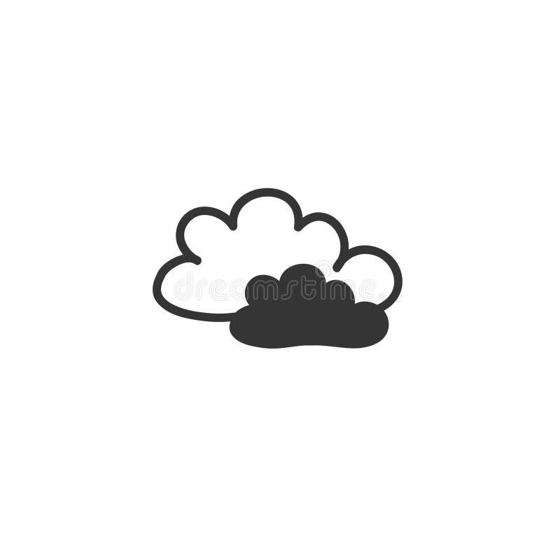 Teckning för klotterstilmoln Vektorn r?cker utdraget Ett symbol av vädret royaltyfri illustrationer