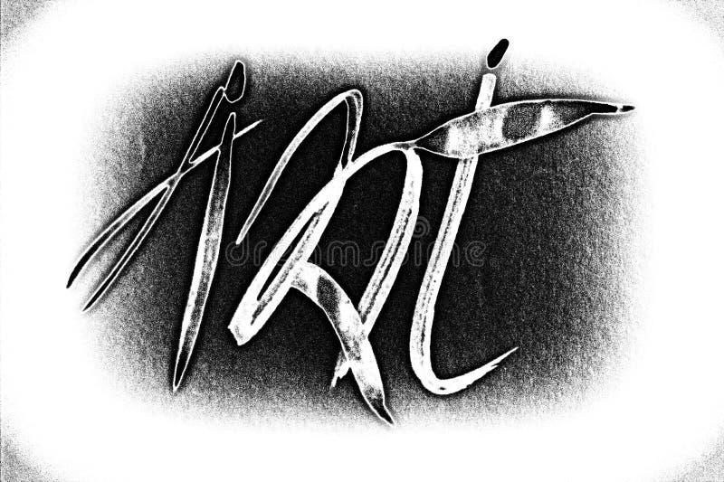 Teckning kalligrafi i bilderna av pysslingar royaltyfria foton