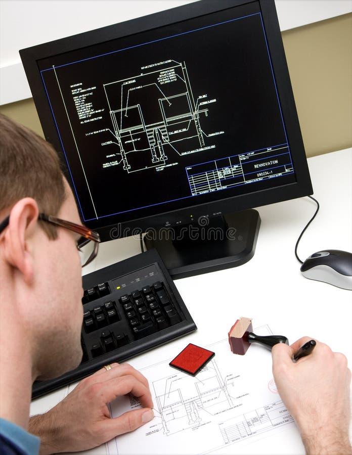 teckningar engineer underteckning royaltyfri bild