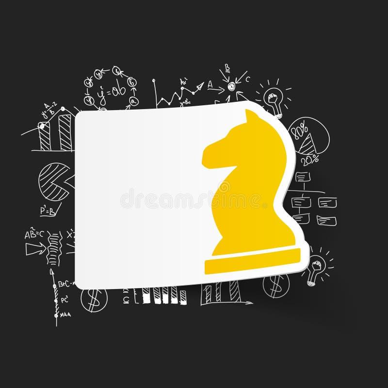 Teckningsaffärsformler schack royaltyfri illustrationer