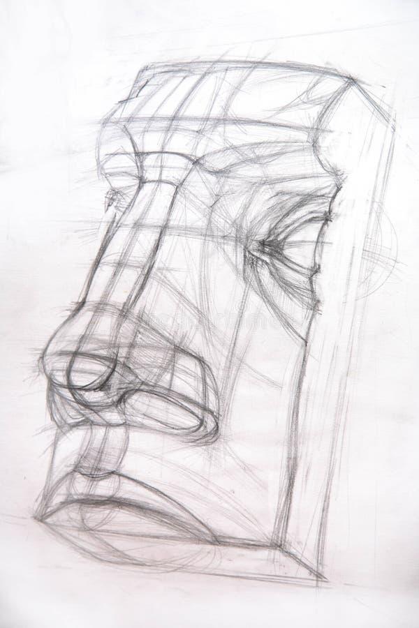 Teckningsakademiker/näsa royaltyfri illustrationer