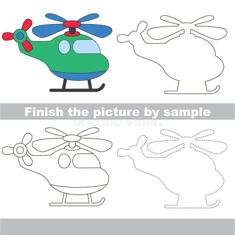 Teckningsarbetssedel för Toy Transport vektor illustrationer