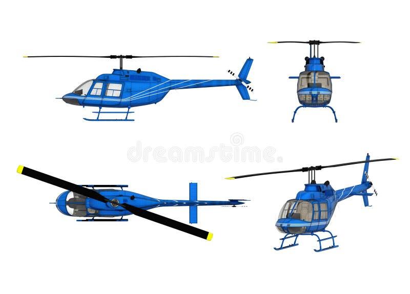 teckningshelikopterstruktur royaltyfri illustrationer