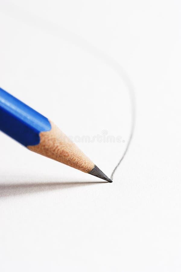 teckningslinje blyertspenna royaltyfri bild
