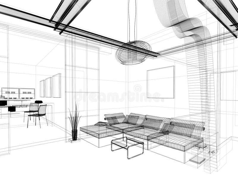 teckningslokal vektor illustrationer