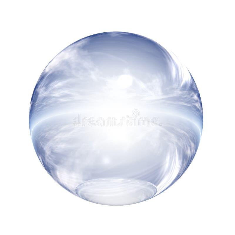 Tecla 3D esférica ilustração royalty free