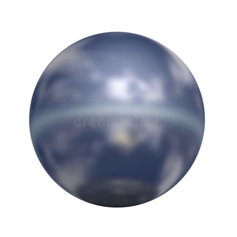 Tecla 3D esférica ilustração stock