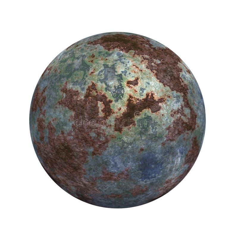Tecla 3D esférica ilustração do vetor