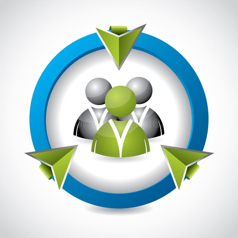 tecla 3d para Web site sociais da rede ilustração stock