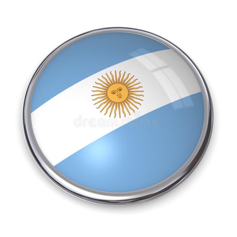 Tecla Argentina da bandeira ilustração stock