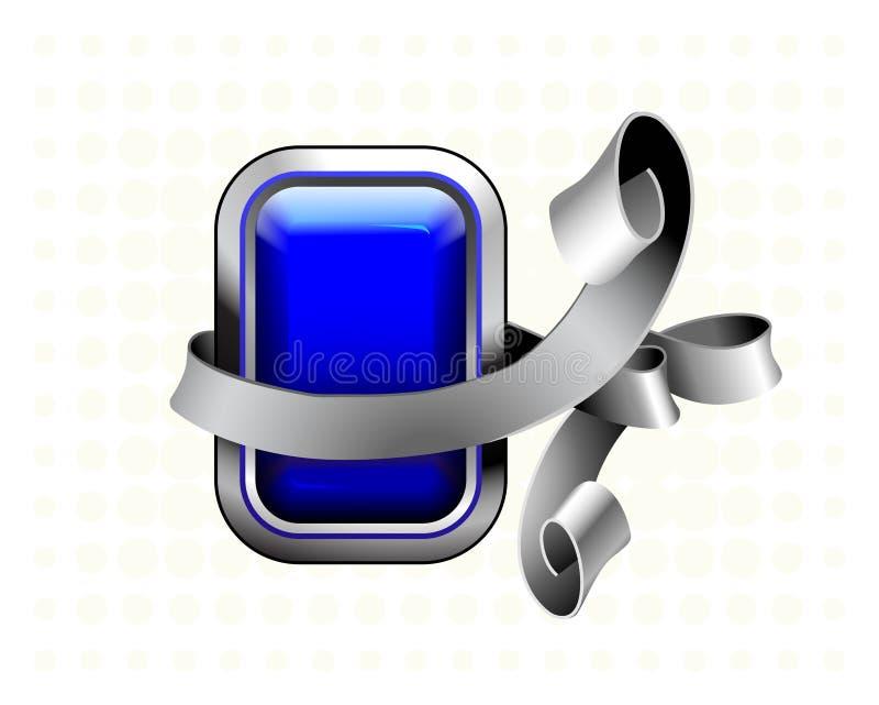 Tecla azul ilustração stock