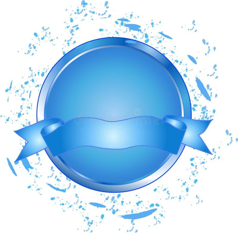 Tecla azul com bandeira ilustração stock