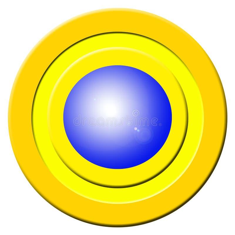 Tecla azul da campainha eléctrica ilustração stock