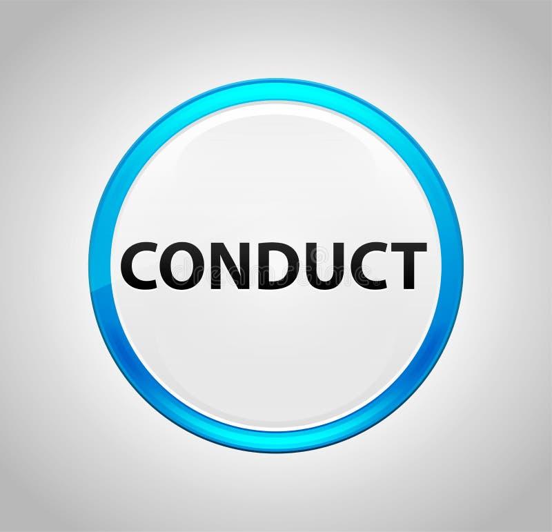 Tecla azul do círculo da conduta ilustração royalty free
