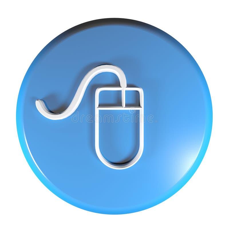 Tecla azul do círculo para o RATO - ilustração da rendição 3D ilustração royalty free