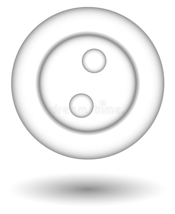 Download Tecla branca ilustração do vetor. Ilustração de anexo - 10059359