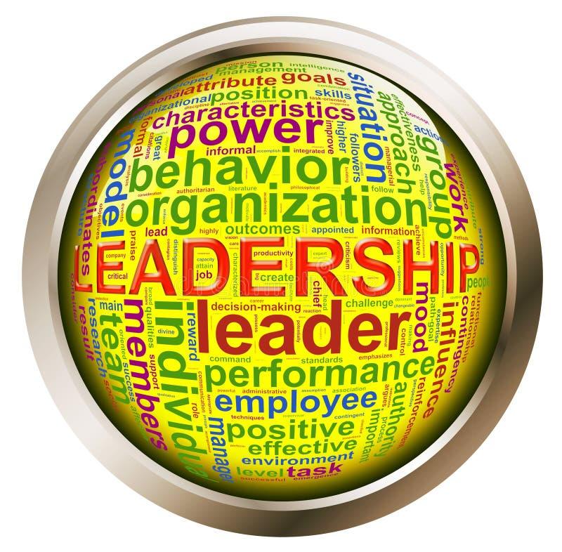 Tecla brilhante - Tag da liderança ilustração royalty free