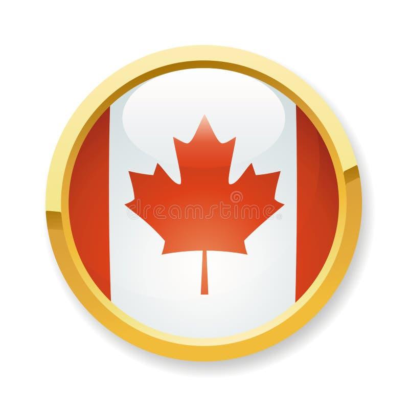 Tecla canadense da bandeira ilustração royalty free