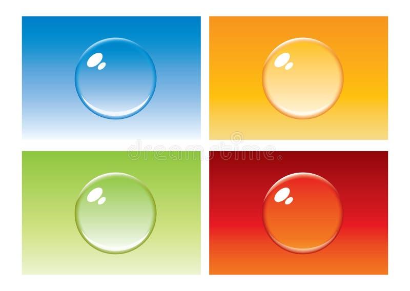 Tecla colorida da bolha ilustração do vetor