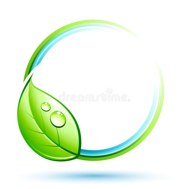 Tecla com folha verde ilustração stock