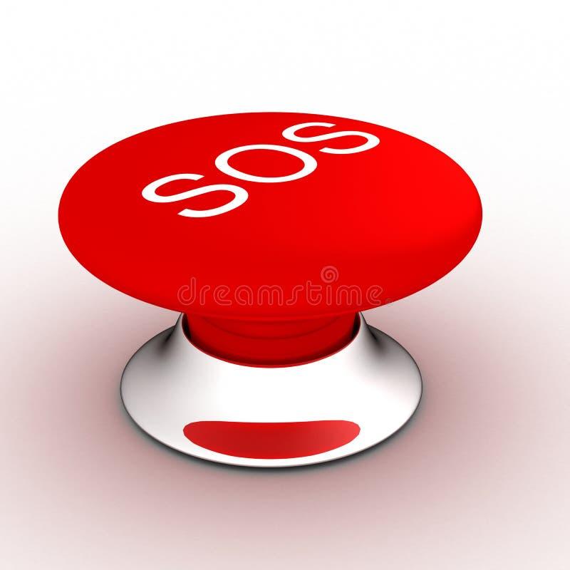 Tecla com uma inscrição o SOS ilustração stock