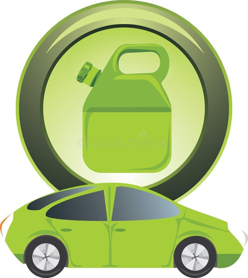 Tecla com vasilha da gasolina ilustração stock