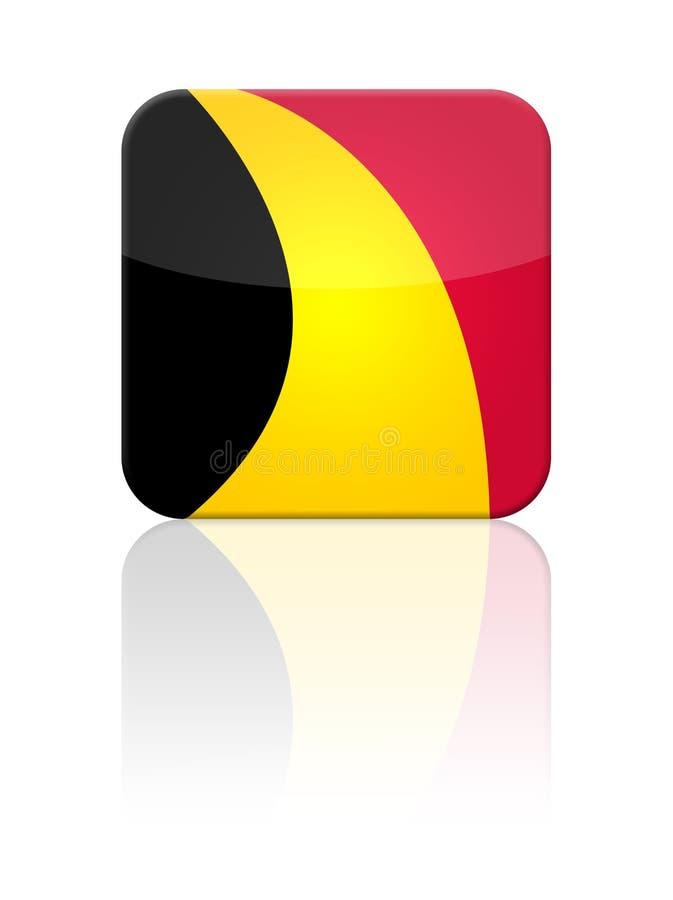 Tecla da bandeira de Bélgica ilustração stock