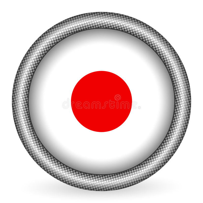 Tecla da bandeira de Japão ilustração stock