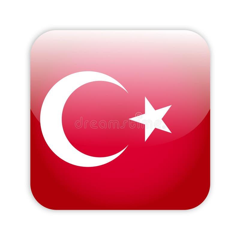 Tecla da bandeira de Turquia ilustração royalty free