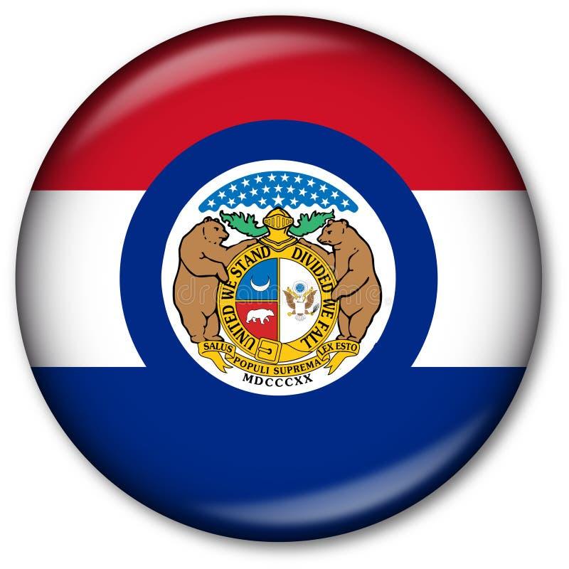 Tecla da bandeira do estado de Missouri ilustração royalty free