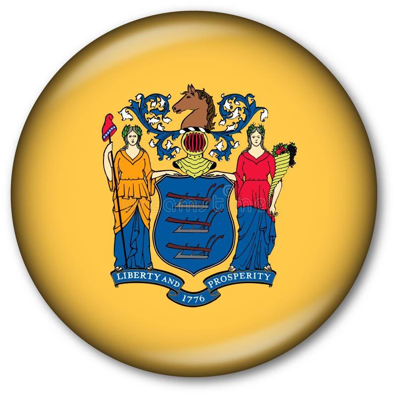 Tecla da bandeira do estado de New-jersey ilustração stock