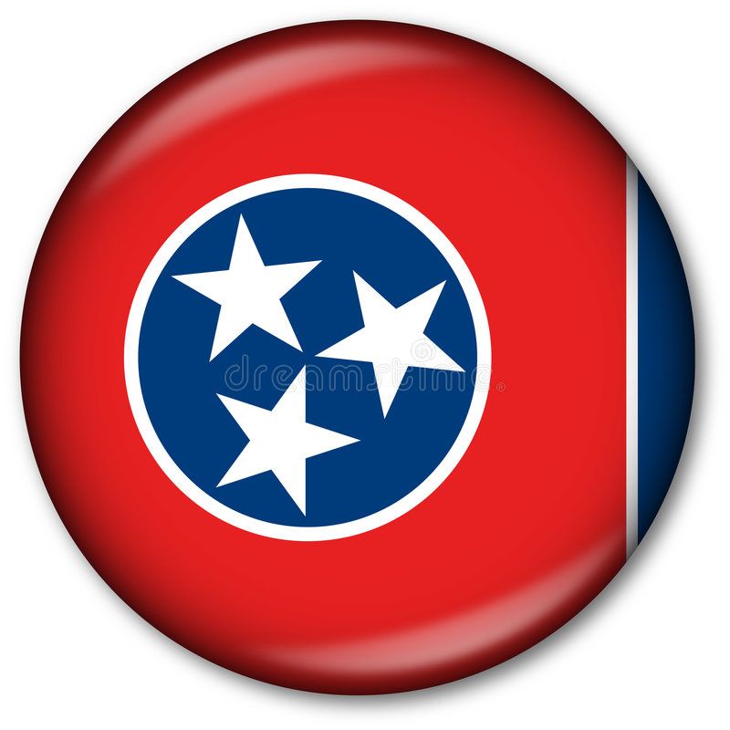 Tecla da bandeira do estado de Tennessee ilustração royalty free