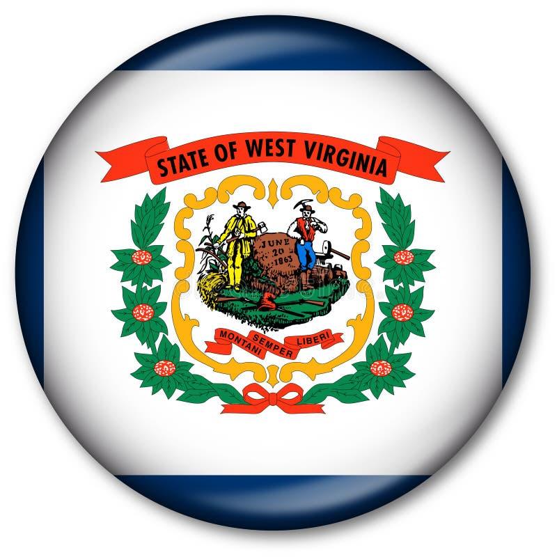 Tecla da bandeira do estado de West Virginia ilustração do vetor