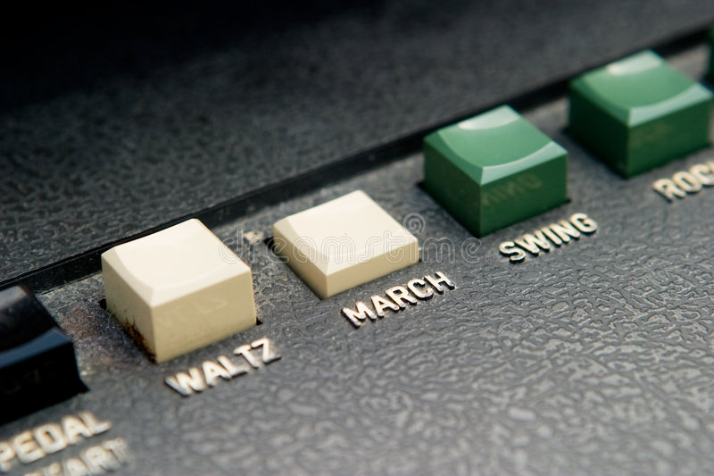 Tecla da batida do órgão de março foto de stock
